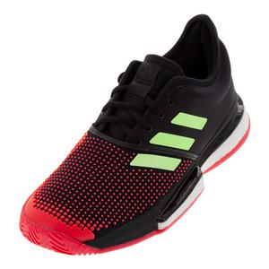 Women`s SoleCourt Boost Tennis Shoes Black and Hi-Res Yellow