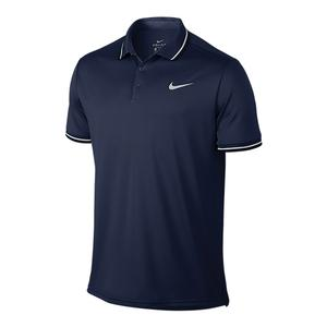 Men`s Court Solid Dry Tennis Polo Midnight Navy