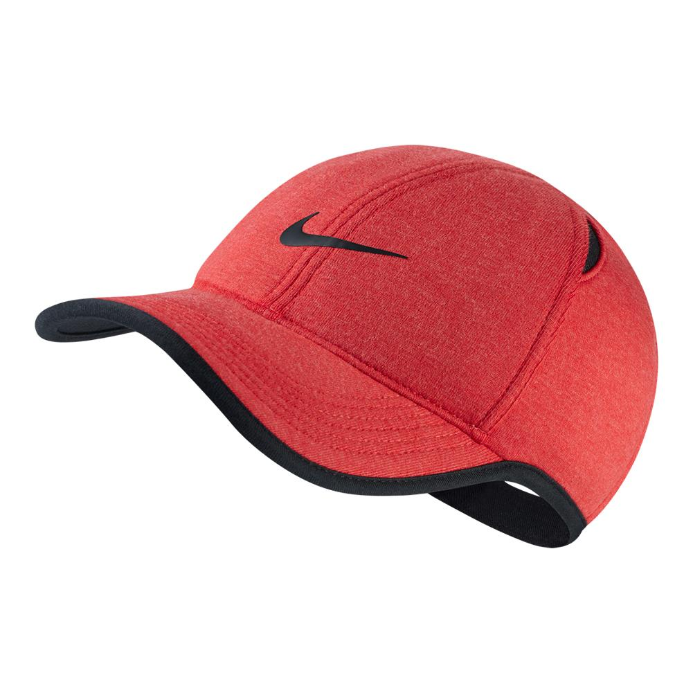 87d5561e1d3 NIKE NIKE Aerobill Featherlight Premium Tennis Cap Light University Red  Heather. Zoom