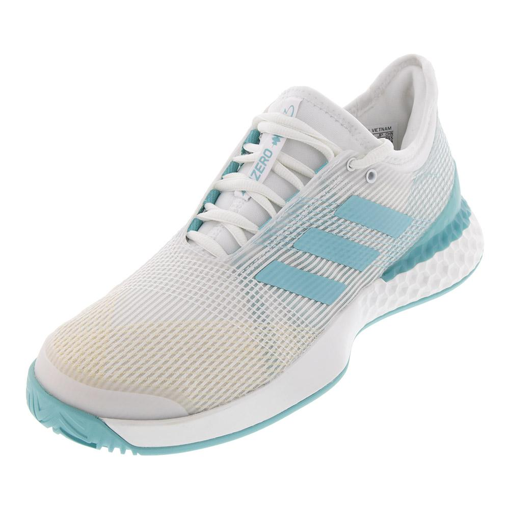 Men's Adizero Ubersonic 3 Parley Tennis Shoes White And Blue Spirit