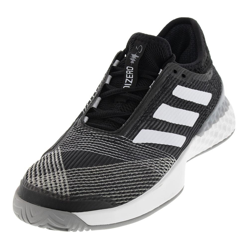 Men's Adizero Ubersonic 3.0 Tennis Shoes Black And White