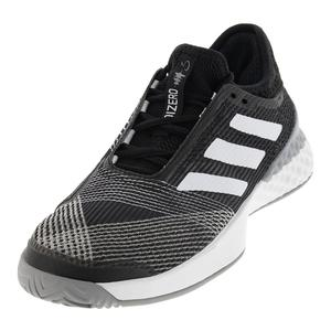 Men`s Adizero Ubersonic 3.0 Tennis Shoes Black and White