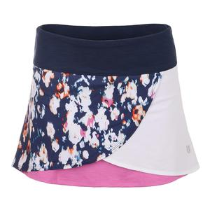 Women`s Encase 13 Inch Tennis Skort Monet Modern Print and Super Pink