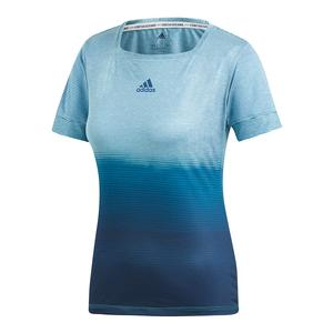 Women`s Parley Tennis Top Blue Spirit and Legend Ink