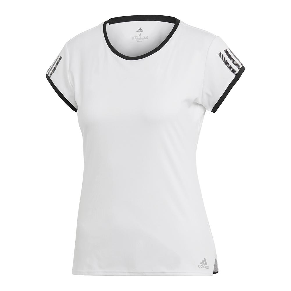 Women's Club 3 Stripes Tennis Top White