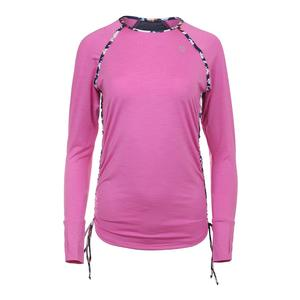 Women`s Tangle Long Sleeve Tennis Top Super Pink