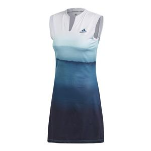 Women`s Parley Tennis Dress White and Easy Blue