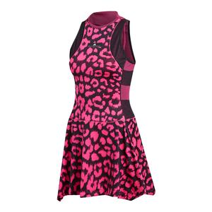 Women`s Stella McCartney Court Tennis Dress Shock Pink and Black