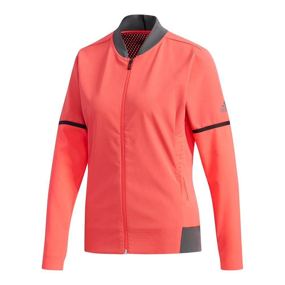 Women's Matchcode Tennis Jacket Shock Red