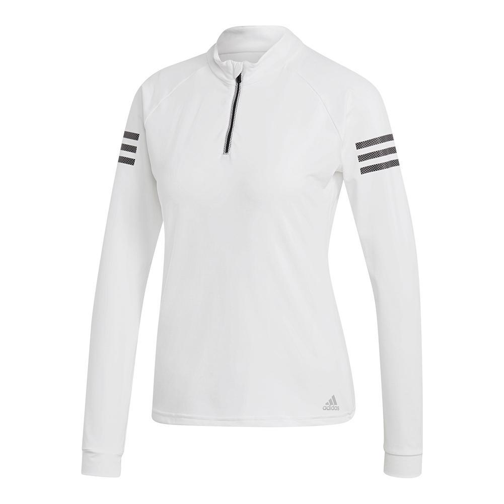 e8a8900f9eff Adidas Women s 1 4 Zip Midlayer Tennis Top White
