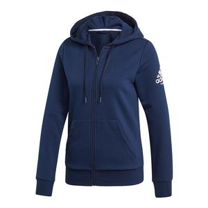 Women`s Club Logo Tennis Hoodie Collegiate Navy and White