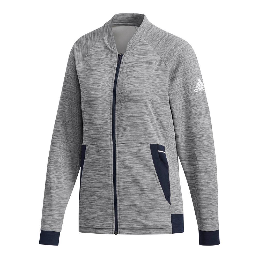 Women's Knit Tennis Jacket Grey Six