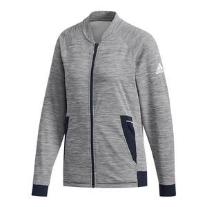 Women`s Knit Tennis Jacket Grey Six