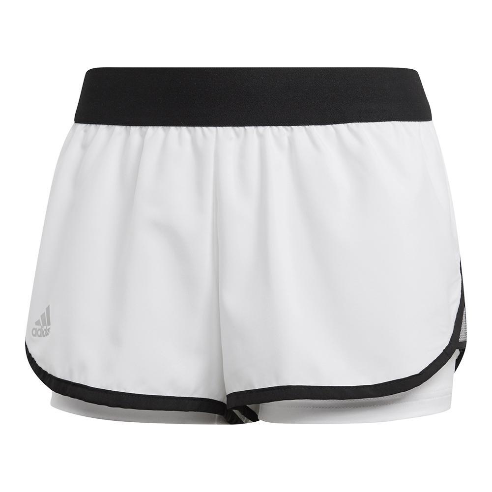 Women's Club 3.5 Inch Tennis Short White And Black