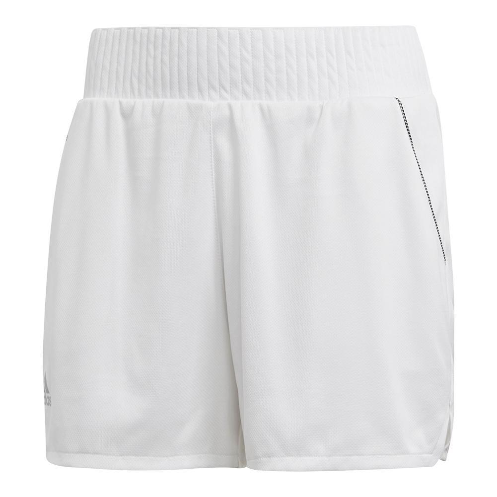 7aeaedea120 ADIDAS ADIDAS Women s Club Hi- Rise 4.5 Inch Tennis Short White