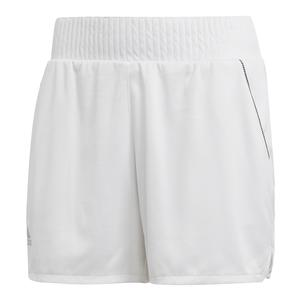 Women`s Club Hi-Rise 4.5 Inch Tennis Short White