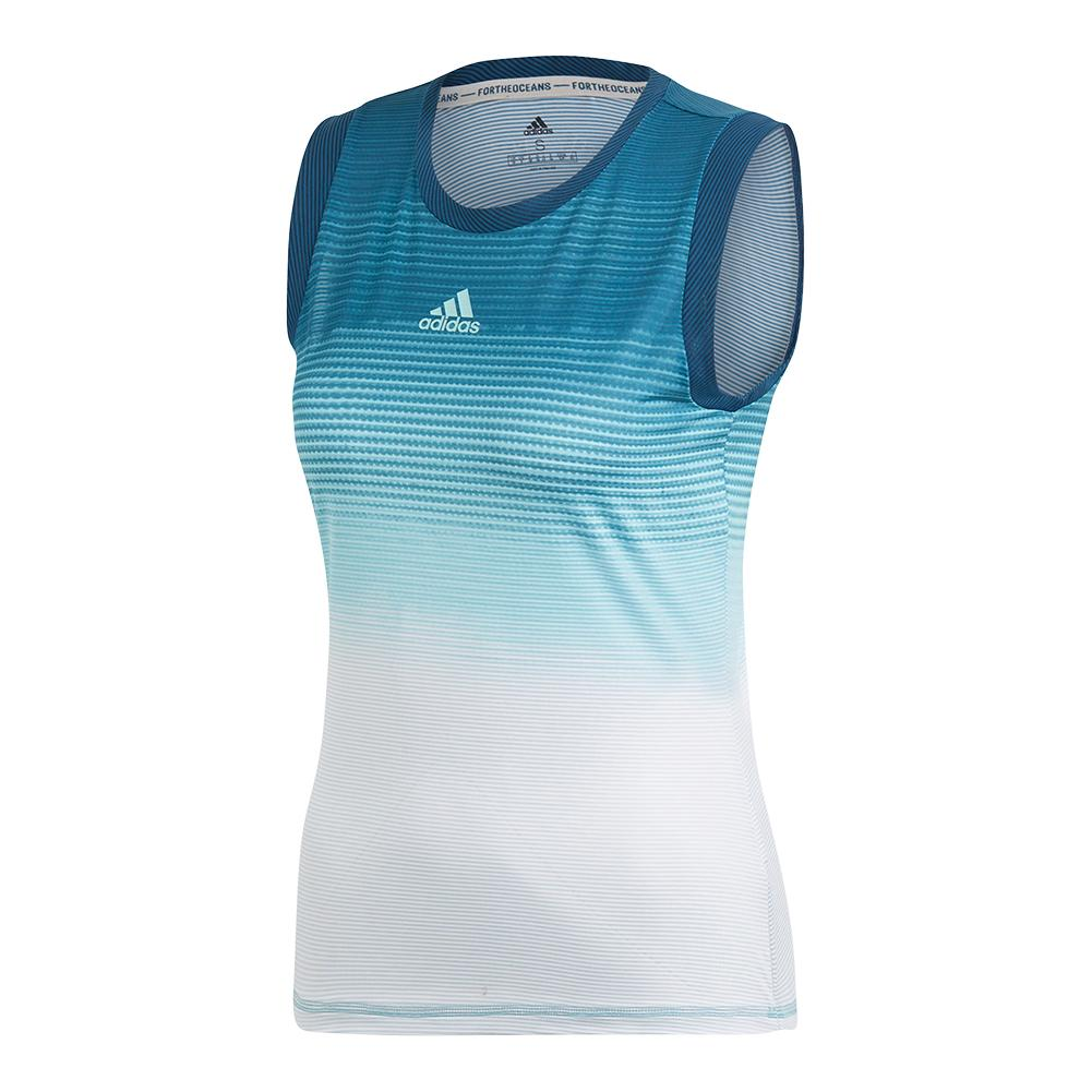 Women's Parley Tennis Tank Blue Spirit And White