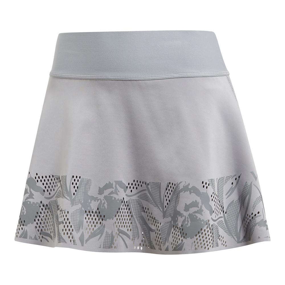 a995aee6c8 adidas Women's Stella McCartney Court Floral Tennis Skirt in Mid Grey