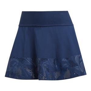 Women`s Stella McCartney Court Floral Tennis Skirt Night Indigo