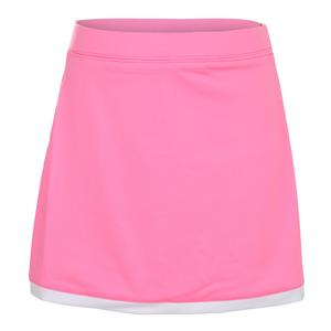 Girls` Border Tennis Skort Pink