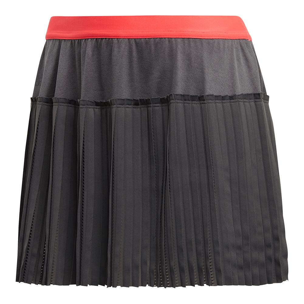 Women's Matchcode Tennis Skirt Grey Six And Shock Red