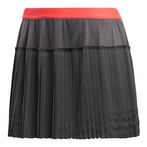 Women`s MatchCode Tennis Skirt Grey Six and Shock Red