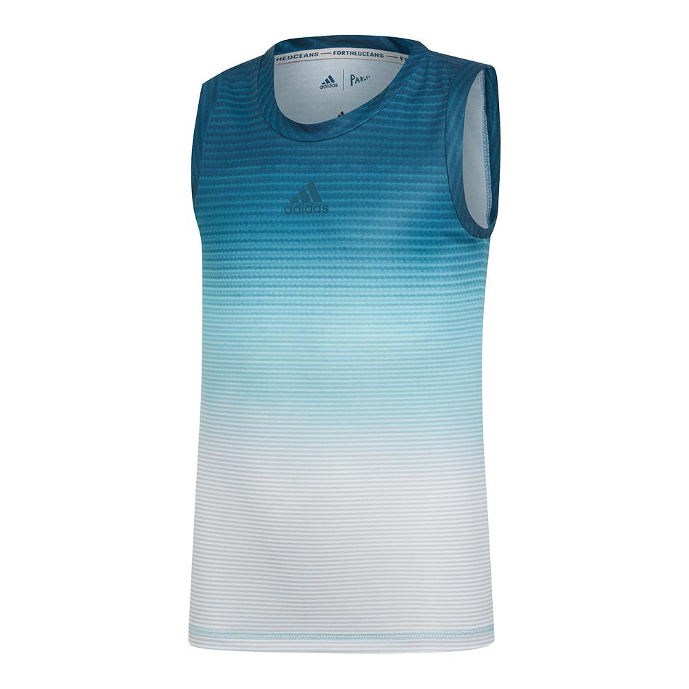 Girls ` Parley Tennis Tank Blue Spirit And White