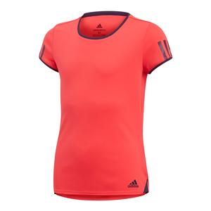 Girls` Club Tennis Top Shock Red