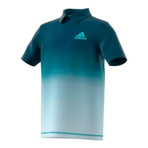 Boys` Parley Tennis Polo Petrol Night and White