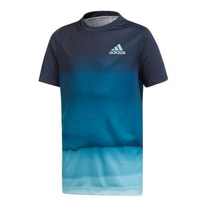 Boys` Parley Printed Tennis Top Legend Ink