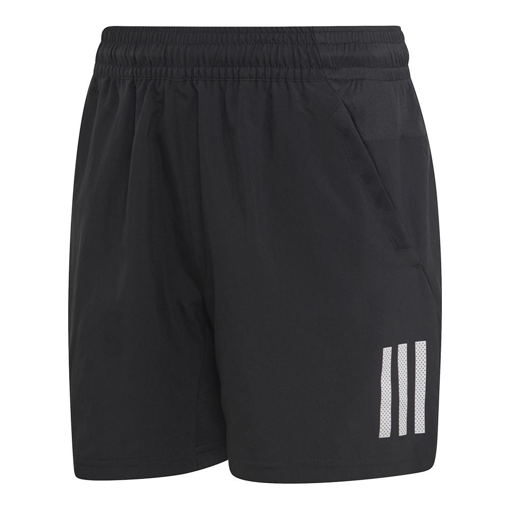 Boys ` Club 3 Stripes Tennis Short Black And White