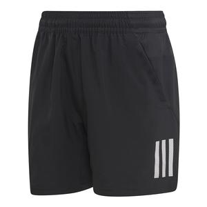 Boys` Club 3 Stripes Tennis Short Black and White