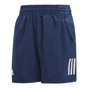 Boys` Club 3 Stripes Tennis Short Collegiate Navy and White