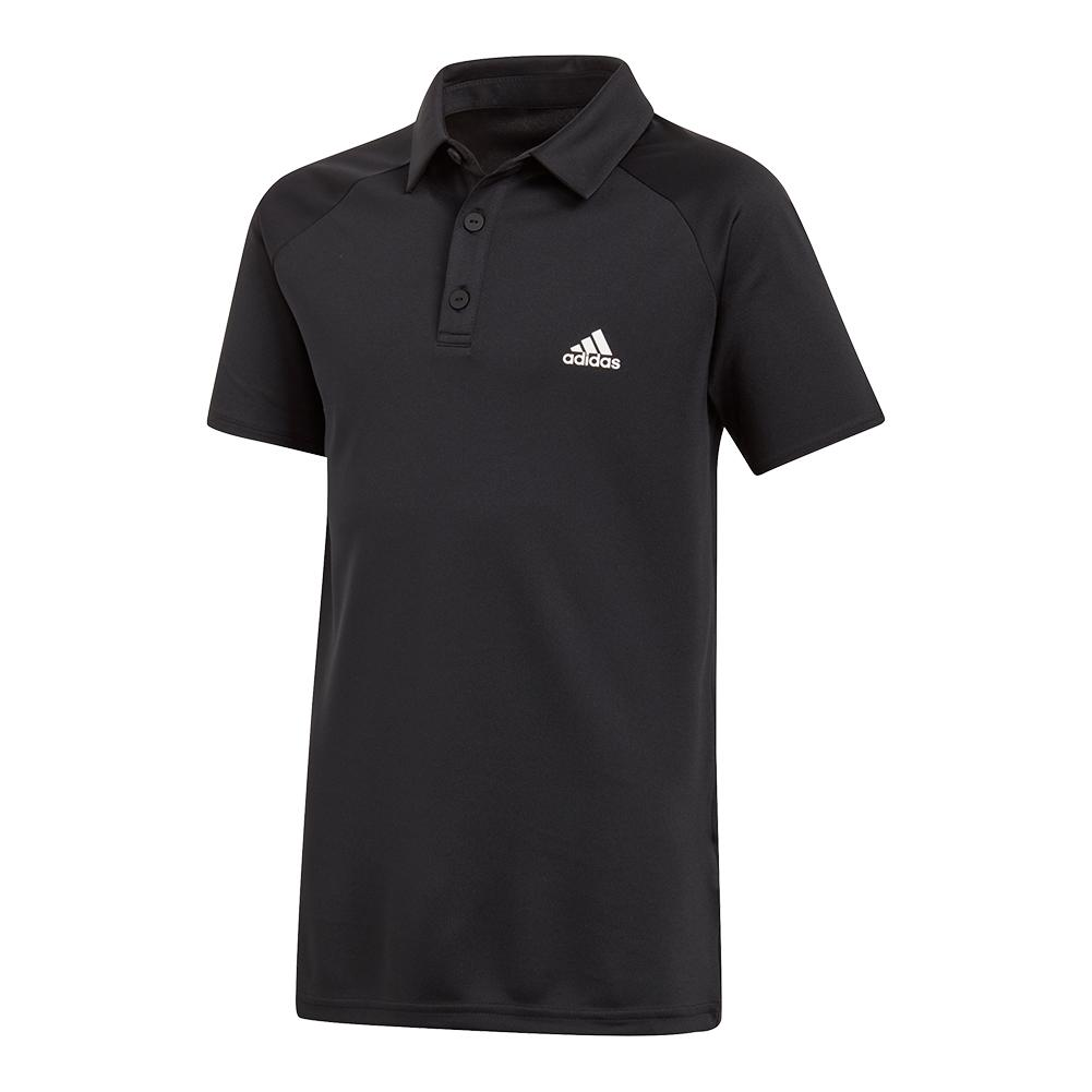 Boys ` Club Tennis Polo Black And White