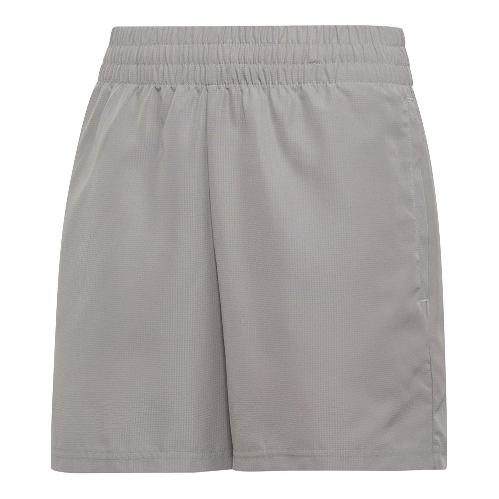 Boys ` Club Tennis Short Light Granite And Black