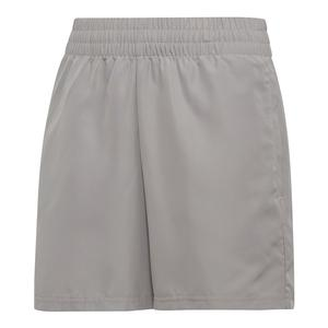 Boys` Club Tennis Short Light Granite and Black