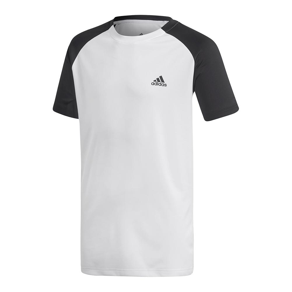 Boys ` Club Tennis Top White And Black