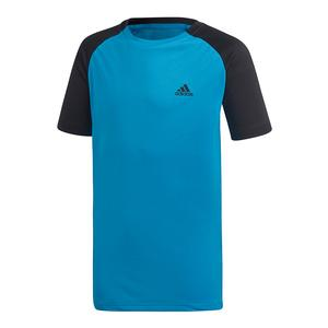 Boys` Club Tennis Top Shock Cyan and Black