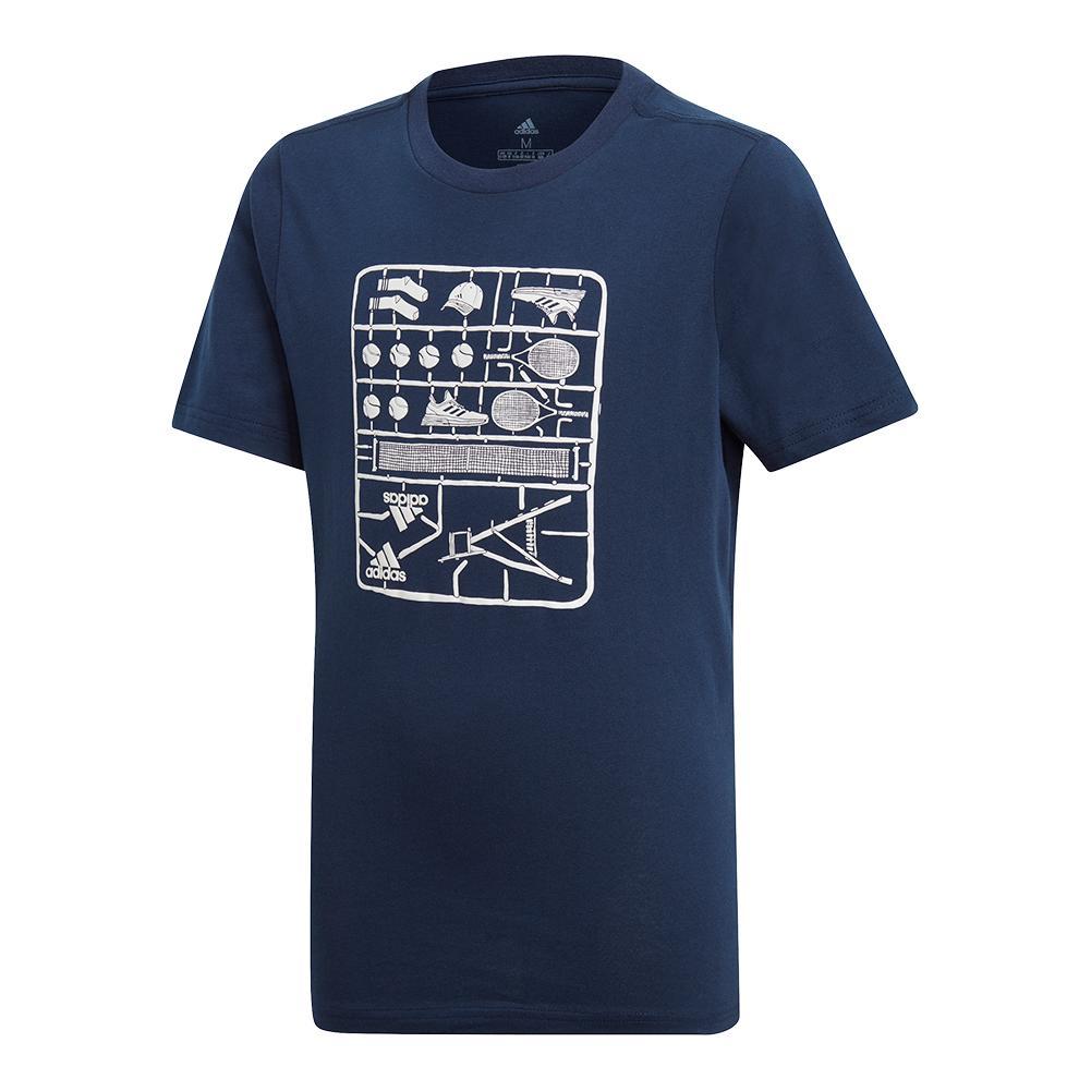 Juniors ` Graphic Tennis Tee Collegiate Navy