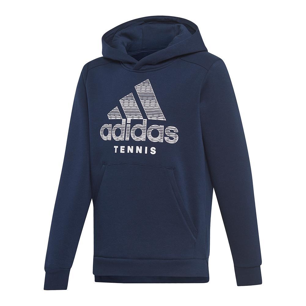 Juniors ` Club Tennis Hoodie Collegiate Navy And White