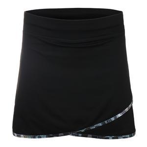 Women`s Wave 15 Inch Tennis Skort Black