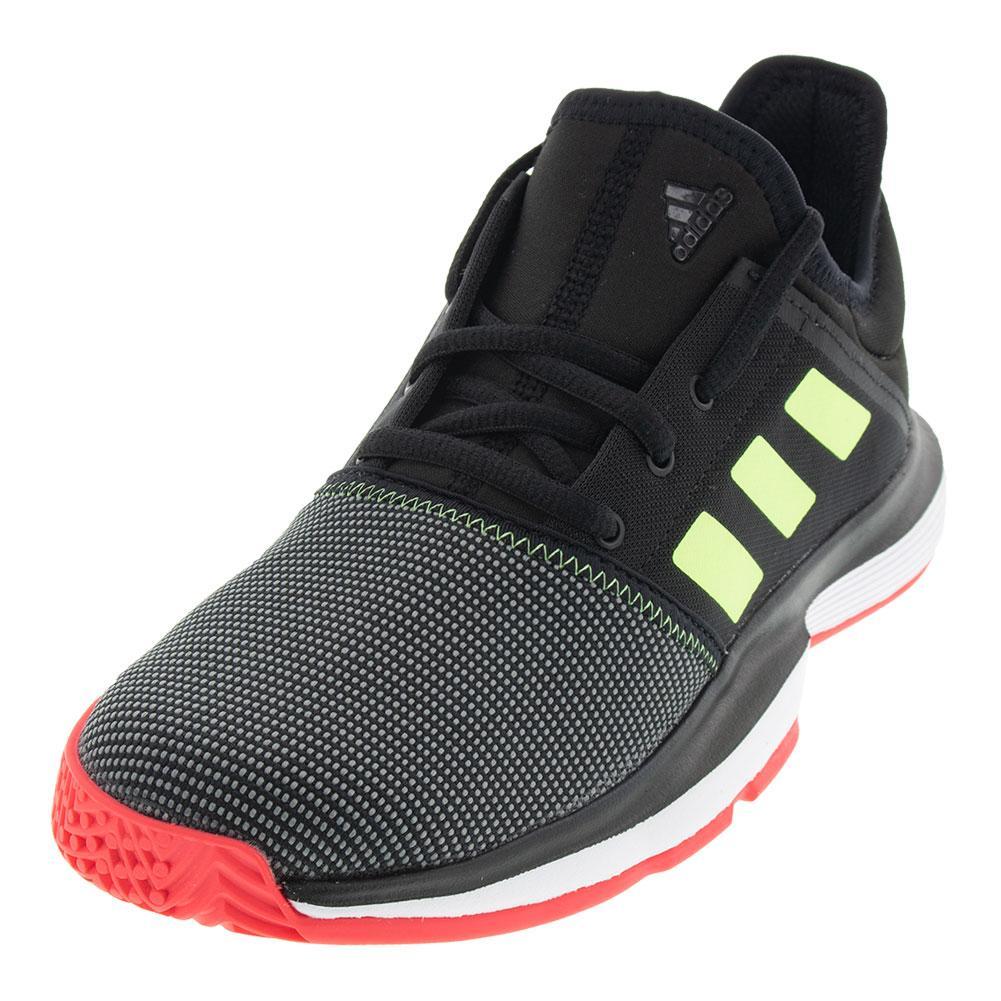 4563c05932dc ADIDAS ADIDAS Juniors solecourt Tennis Shoes Black And White