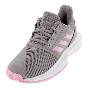 Juniors` CourtJam XJ Tennis Shoes Light Granite and True Pink