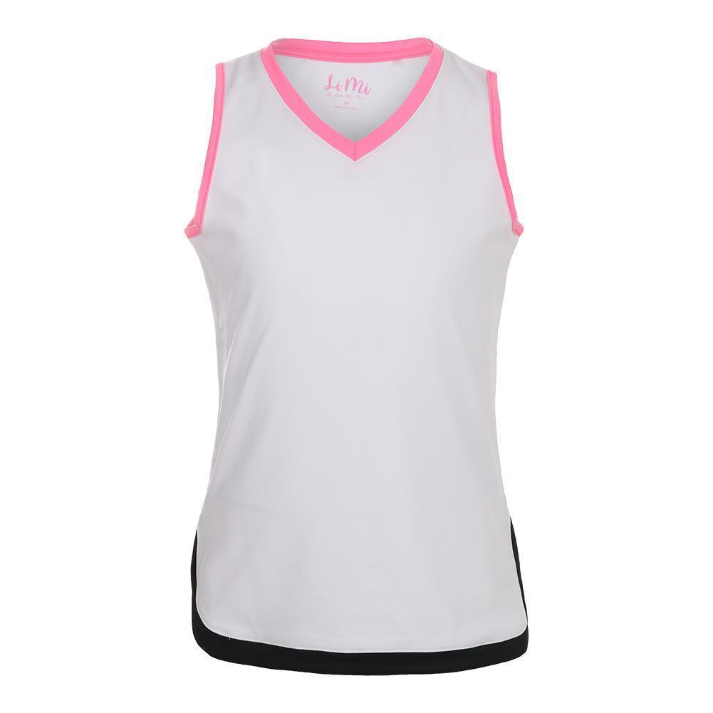 Girls'scallop Hip V- Neck Tennis Tank