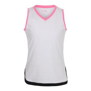 Girls` Scallop Hip V-Neck Tennis Tank