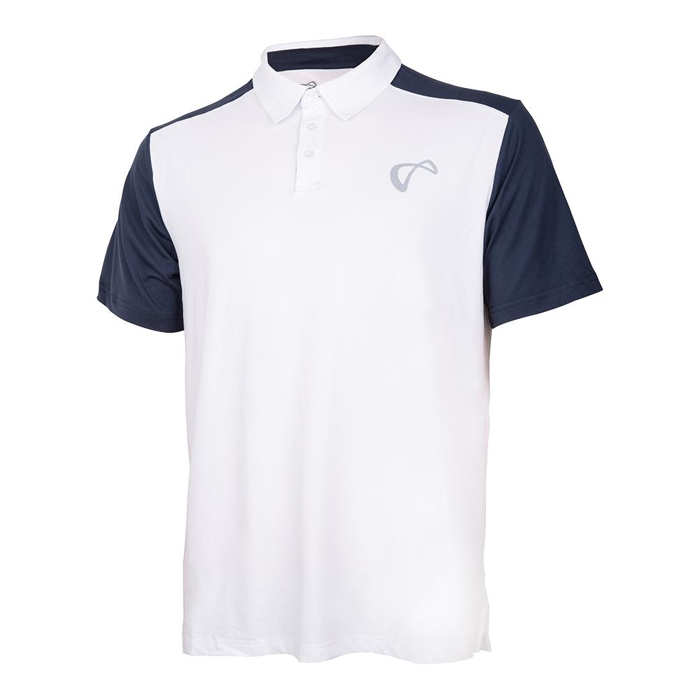 Men's Break Tennis Polo White And Denim