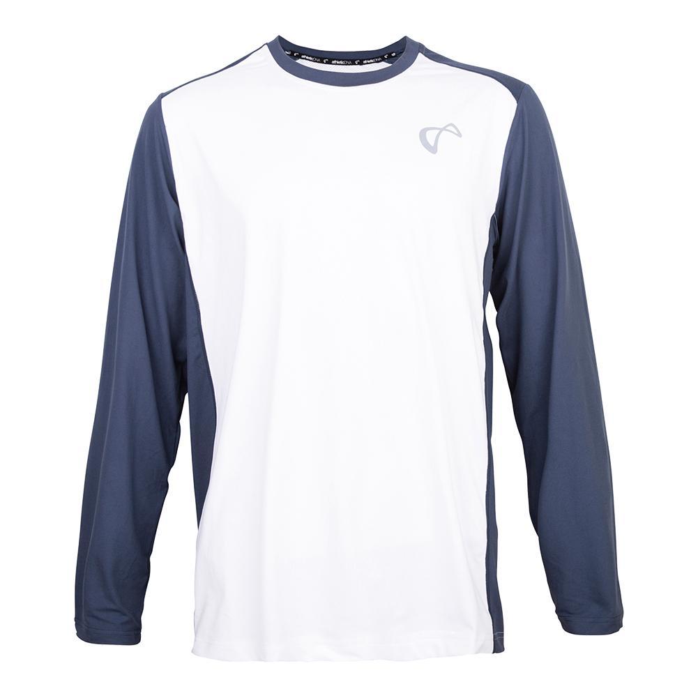 Men's Ventilator Long Sleeve Tennis Top White And Denim