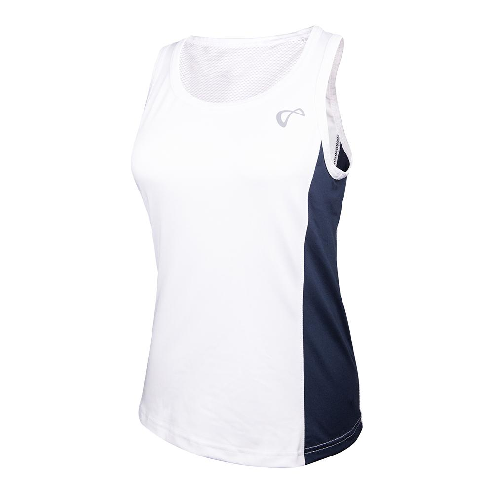 Women's Breeze Tennis Tank White And Denim