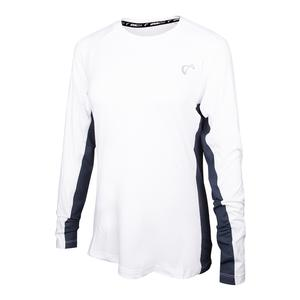 Girls` Advantage Long Sleeve Tennis Top White and Denim