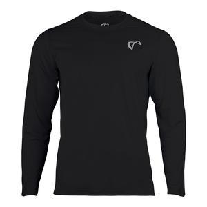 Men`s Ventilator Long Sleeve Tennis Top Black